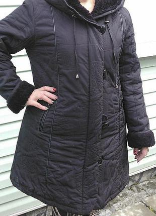 Зимнее пальто пуховик 52-54р.