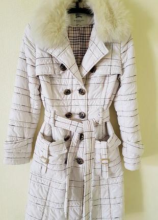 Пальто в стиле burberry размер м