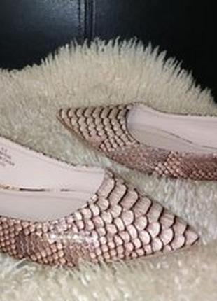 Asos туфлі балетки лодочки екокожа