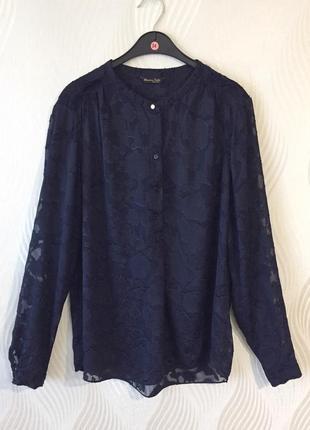 Ажурная шелковая блуза massimo dutti