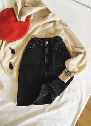 Шикарна джинсова спідниця від asos denim