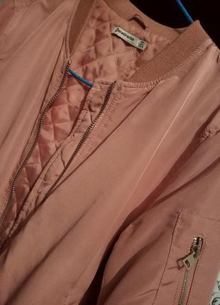 Пудровый бомбер/ пудровая курточка