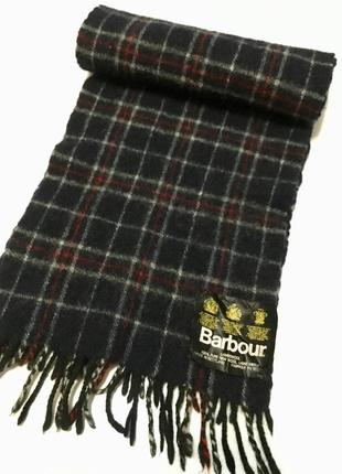 Barbour шарф оригинал made in scotland 100% pure new wool шерсть