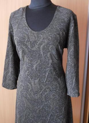 Платье из набивной стрейчевой ткани