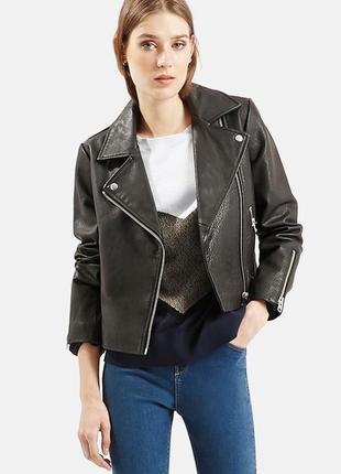 Кожаная куртка косуха байкерская topshop p.36