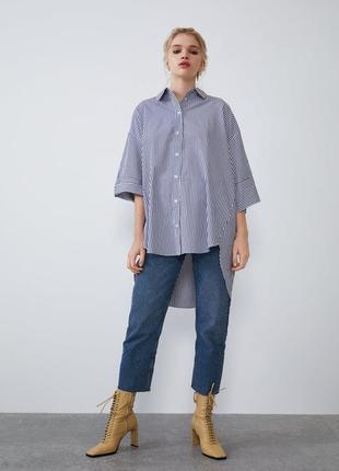 Асимметричная рубашка оверсайз