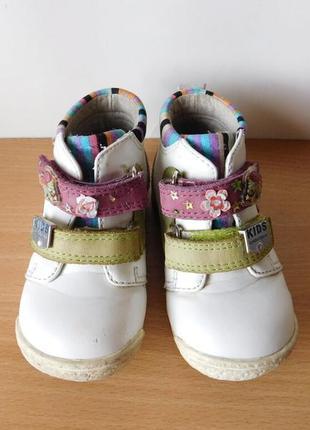Ботинки демисезонные кожаные little deer 21 р. стелька 13,5 см