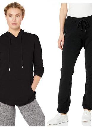 Хлопковый черный спортивный костюм свободного фасона marc new york