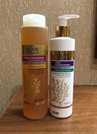 Набор шампунь+кондиционер от olive touch