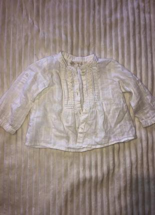 Льонова рубашка zara