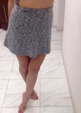 Серая юбка bershka
