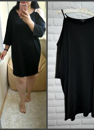 Интересное черное платье, р. 26.