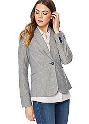 Брендовый серый пиджак жакет блейзер с карманами atmosphere вискоза этикетка