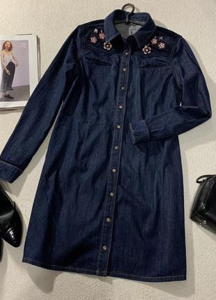 Стильное джинсовое платье , размер xxl