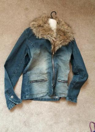 Джинсовая куртка-пиджак-бренд-clockhouse-14h