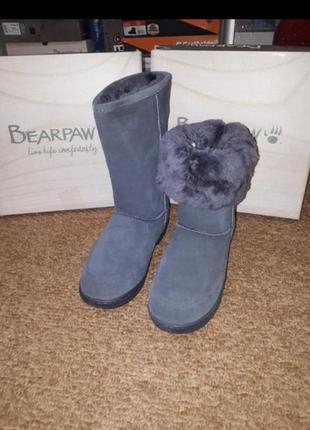 Зимние замшевые сапоги bearpaw 40