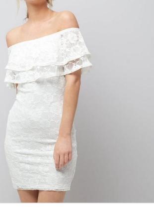Очень красивое гипюровое платье от new look рр 10 наш 44