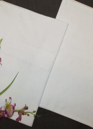 Комплект белых наволочек fox & ivy