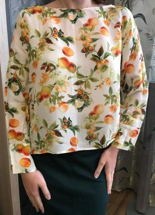 Блузка яркая с цветочным принтом zara