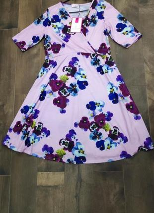 Нежное цветочное платье want that trend, 12 р. новое!