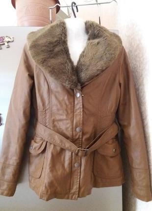 Куртка с меховым воротникм -miss luma- s m ( отстегивается)