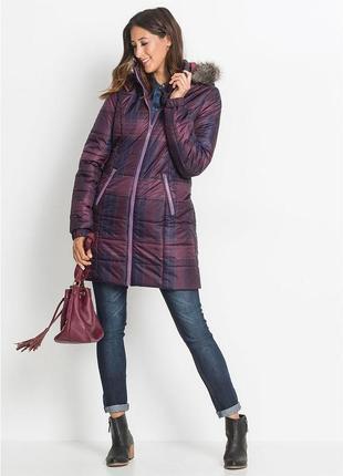 Куртка -пальто удлиненная, зимняя