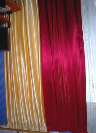 Двойные шторы с подхватами