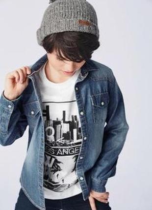 Джинсовая рубашка 134 размер