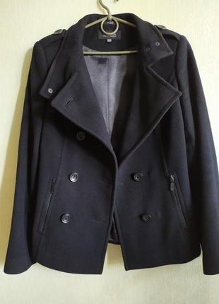 Двубортное шерстяное пальто vivalon, размер s