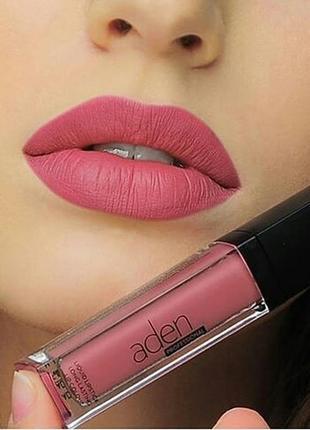 Матовая стойкая жидкая помада aden cosmetics liquid pro lipstick №31