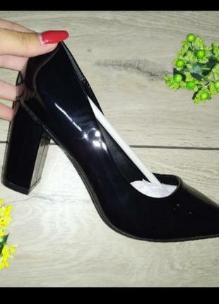 Туфли женские каблук классика туфлі жіночі  лодочки