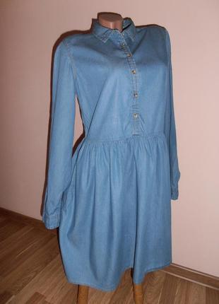 Милое денимовое платье