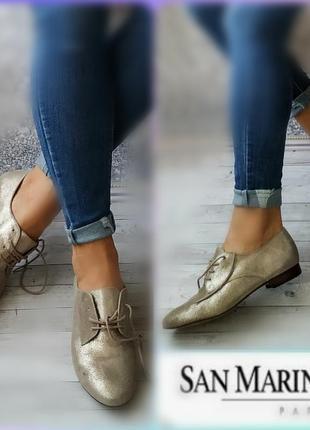 39р замша,кожа! новые франция san marina мокасины,туфли на шнуровке