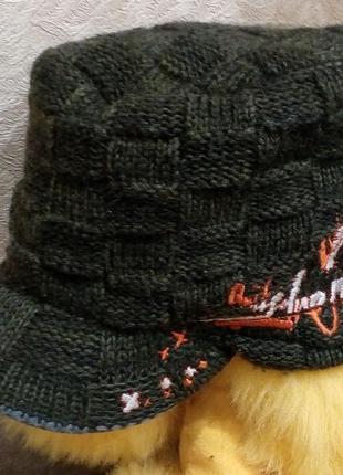 Теплая двойная вязаная кепка франция