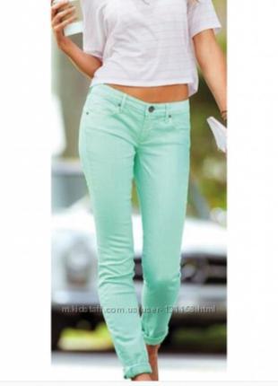 Мятные , бирюзовые джинсы