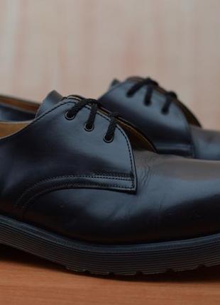 Черные кожаные мужские туфли, ботинки dr.martens. 42 - 43 размер. оригинал