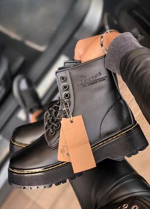 Женские ботинки dr. martens black high