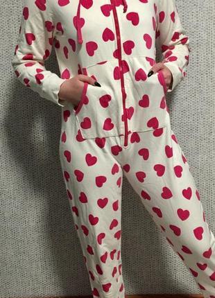 Отличная тёплая трикотажная пижама new look