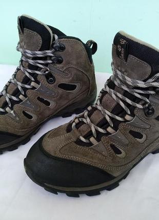 """Термо-ботинки зимние """"jack wolfskin"""" германия р.37,5 кожа мембрана женские подростку"""