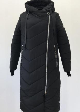 Зимняя черная батальная куртка (50-60)