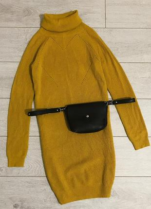 Вязанное свитер-платье