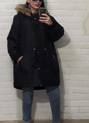 Классная стильная куртка парка