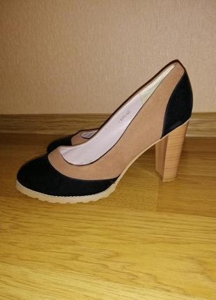 Туфли замш, классические