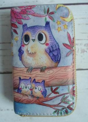 Милый кошелёк с совами