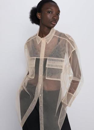 Туника, шифоновая рубашка размер - 48 - 50