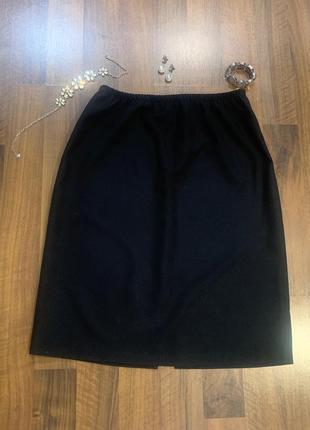 Черная юбка большого размера