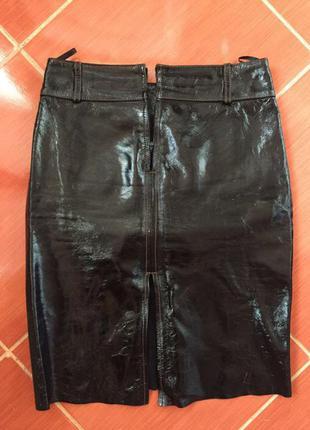 Натуральная кожаная юбка fabiani