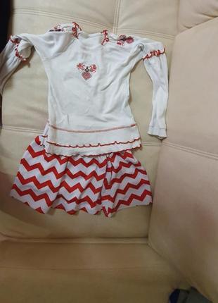 Вышиванка наряд украинский 6-8 лет