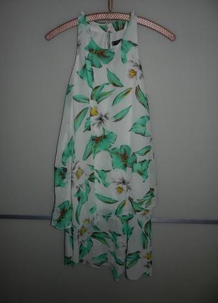 10/38/s atmosphere белое шифоновое легкое нарядное платье цветочный принт