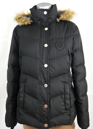 Tommy hilfiger, женская пуховая зимняя куртка пуховик, парка пух черная